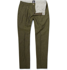 B Store Basil Pleated Linen Trousers