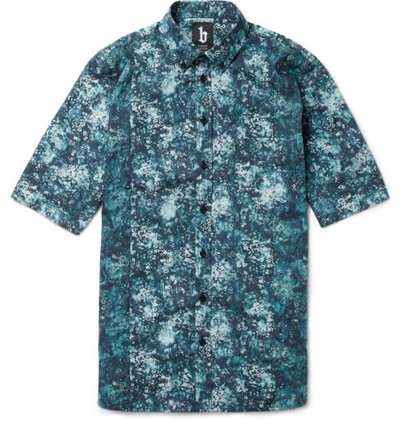 B Store Bracknall Liberty-Print Short-Sleeved Shirt