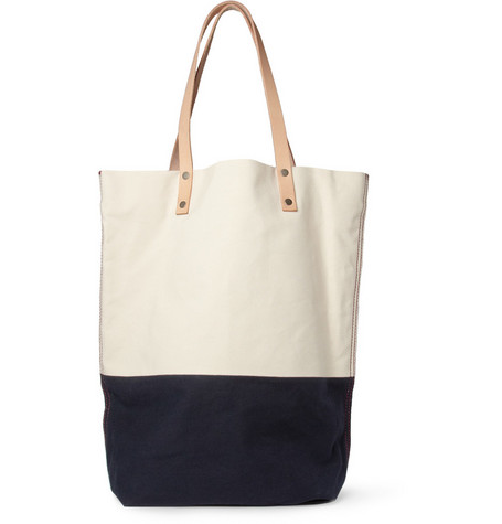 Levi's Made & Crafted Two-Tone Canvas and Leather Tote Bag