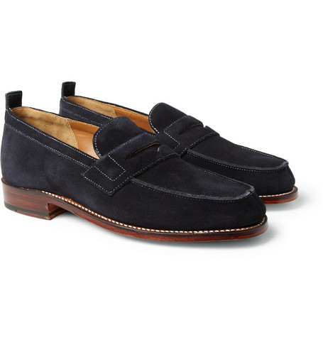 Grenson James Suede Penny Loafers
