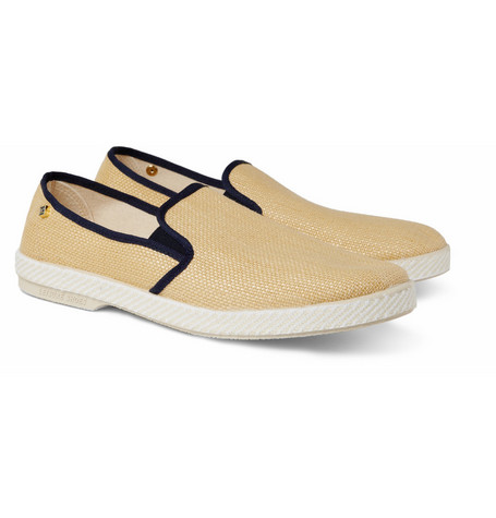 Rivieras Woven-cotton Slip-On Shoes