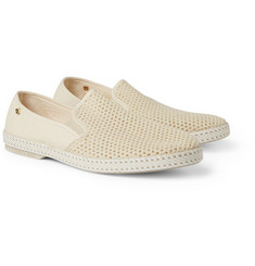 Rivieras Bem Mesh and Canvas Slip-On Shoes