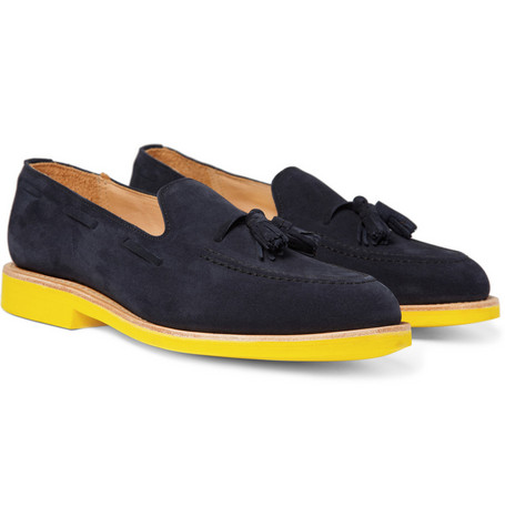 Mark McNairy Contrast Sole Suede Loafers
