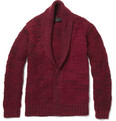 The Elder Statesman Monster Cashmere Shawl-Collar Cardigan