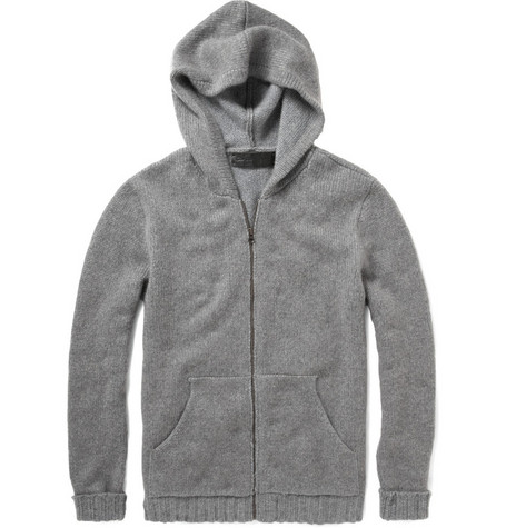 The Elder Statesman Marled Cashmered Zip-Up Hoodie