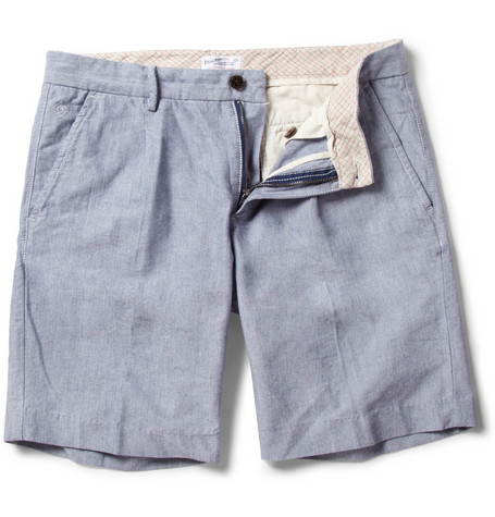 Gant Rugger Pleated Slim-Fit Oxford Cotton Shorts