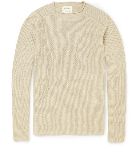 Billy Reid Delta Ribbed Linen-Blend Sweater