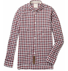 Billy Reid Plaid Linen and Cotton-Blend Shirt