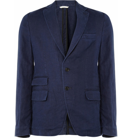 Billy Reid Unstructured Washed Linen Blazer