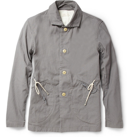 Folk Rousous Drawstring Cotton-Piqué Jacket
