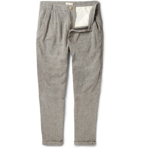 Folk Bagged Pleated Cotton-Blend Suit Trousers