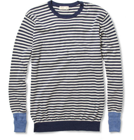 Folk Striped Cotton-Knit Sweater