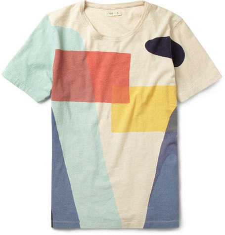 Folk Printed Slub Cotton T-Shirt