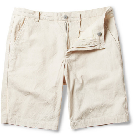 Folk Washed Slim-Fit Cotton-Canvas Shorts