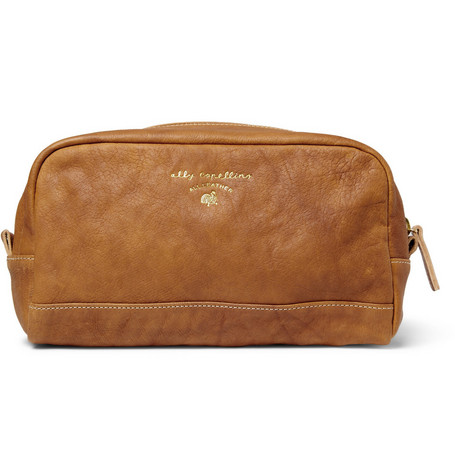 Ally Capellino Johnson Washed-Leather Wash Bag