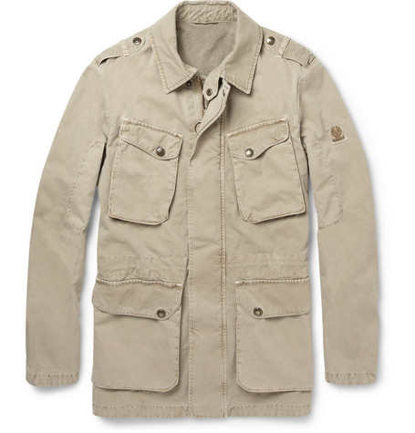 Belstaff Oxney Washed-Cotton Field Jacket