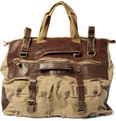 Belstaff Leather-Trimmed Canvas Holdall Bag