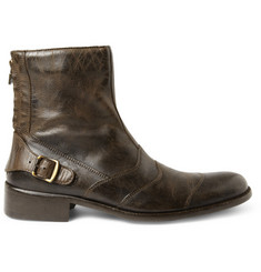 Belstaff Townmaster Distressed Leather Boots