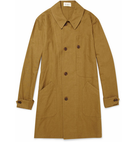 YMC Linen and Cotton-Blend Car Coat