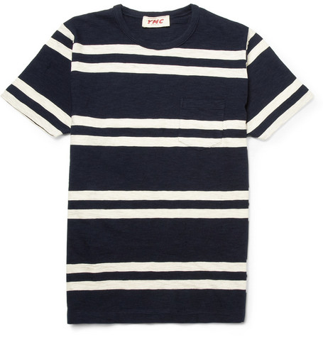 YMC Striped Slub Cotton T-shirt