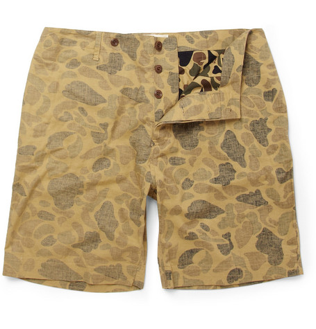 YMC Camouflage-Print Cotton Shorts
