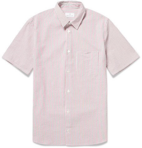 Hentsch Man Dean Slim-Fit Seersucker Shirt