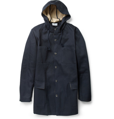 Hentsch Man Marin Hooded Treated-Cotton Jacket