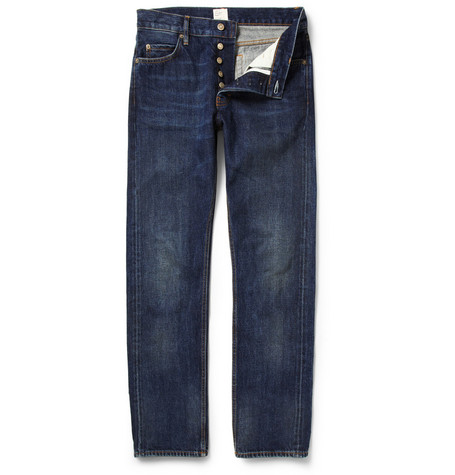 Jean.Machine J.M-2 Straight-Leg Washed Selvedge Jeans