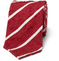 Drake's - Slim Striped Shantung Silk Tie