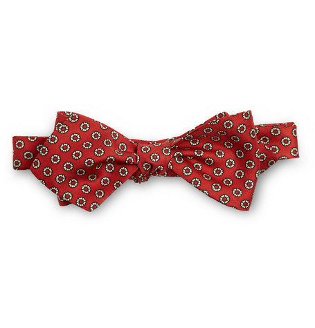 Drake's Madder Print Silk Bow Tie