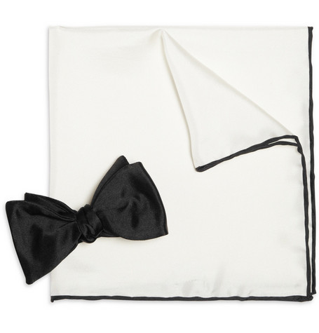 Drake's Pocket Square and Bow Tie Set