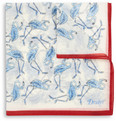 Drake's Flamingo-Print Cotton-Blend Pocket Square