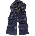 Drake's - Reversible Dotted Silk Scarf