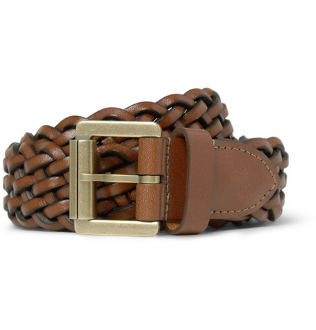 Mulberry Woven-Leather Belt
