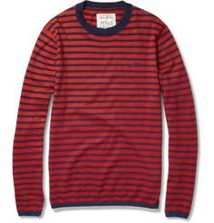 Aubin & Wills Striped Cotton and Cashmere-Blend Sweater