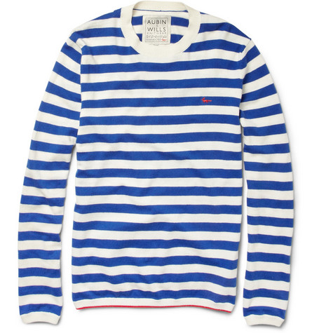Aubin & Wills Striped Cotton and Cashmere-Blend Sweater