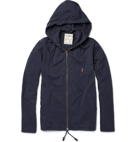 Aubin & Wills Dallison Loopback-Cotton Hoodie