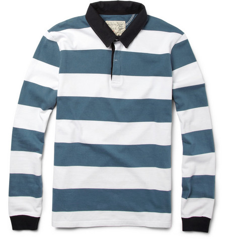 Aubin & Wills Striped Cotton Rugby Shirt