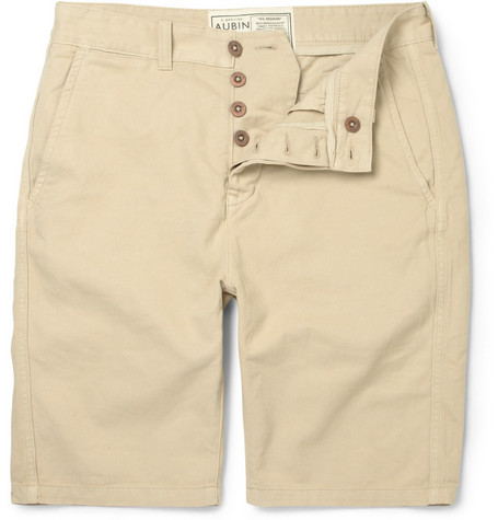 Aubin & Wills Washed-Cotton Chino Shorts