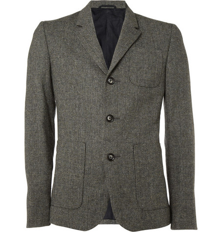 Aubin & Wills Prince of Wales Check Wool Blazer