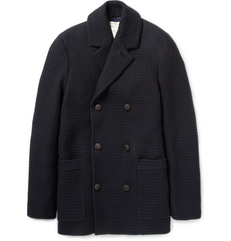 Aubin & Wills Double-Breasted Wool-Blend Jacket