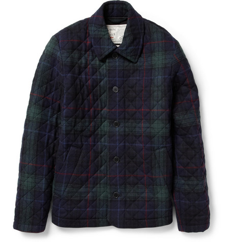 Aubin & Wills Quilted Plaid Wool-Blend Jacket