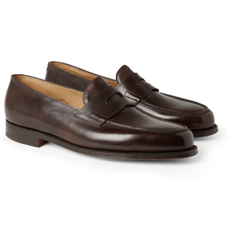 John Lobb Lopez Leather Loafers