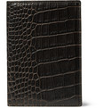 Smythson - Crocodile-Embossed Leather Passport Cover