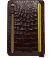 Smythson Crocodile-Embossed Leather Multi-Currency Wallet