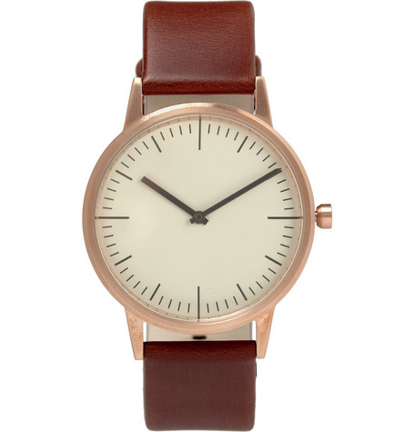 Uniform Wares 150 Series Slim Steel Wristwatch