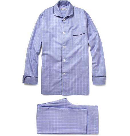 Turnbull & Asser Prince of Wales Check Cotton Pyjamas