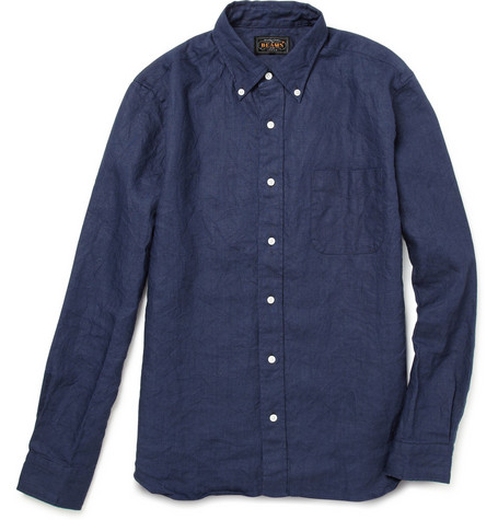 Beams Plus Linen Oxford Shirt