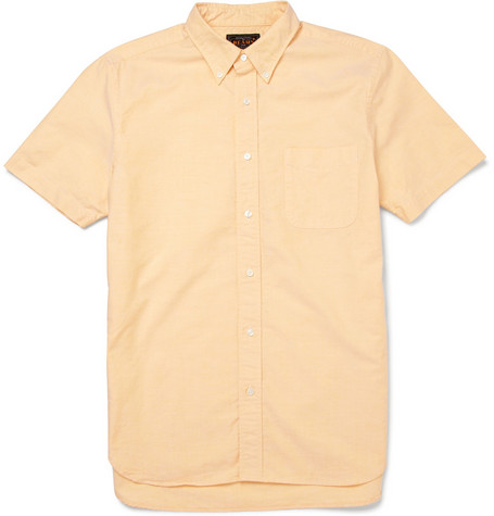Beams Plus Short-Sleeve Oxford Cotton Shirt