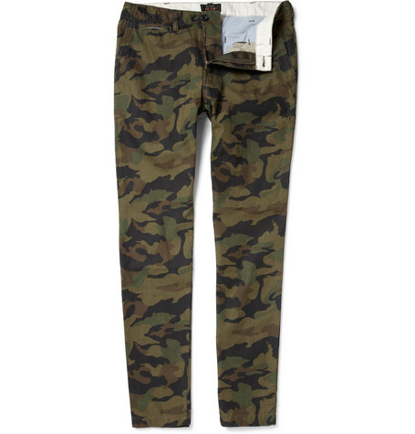 Beams Plus Camouflage-Print Tapered Cotton Trousers